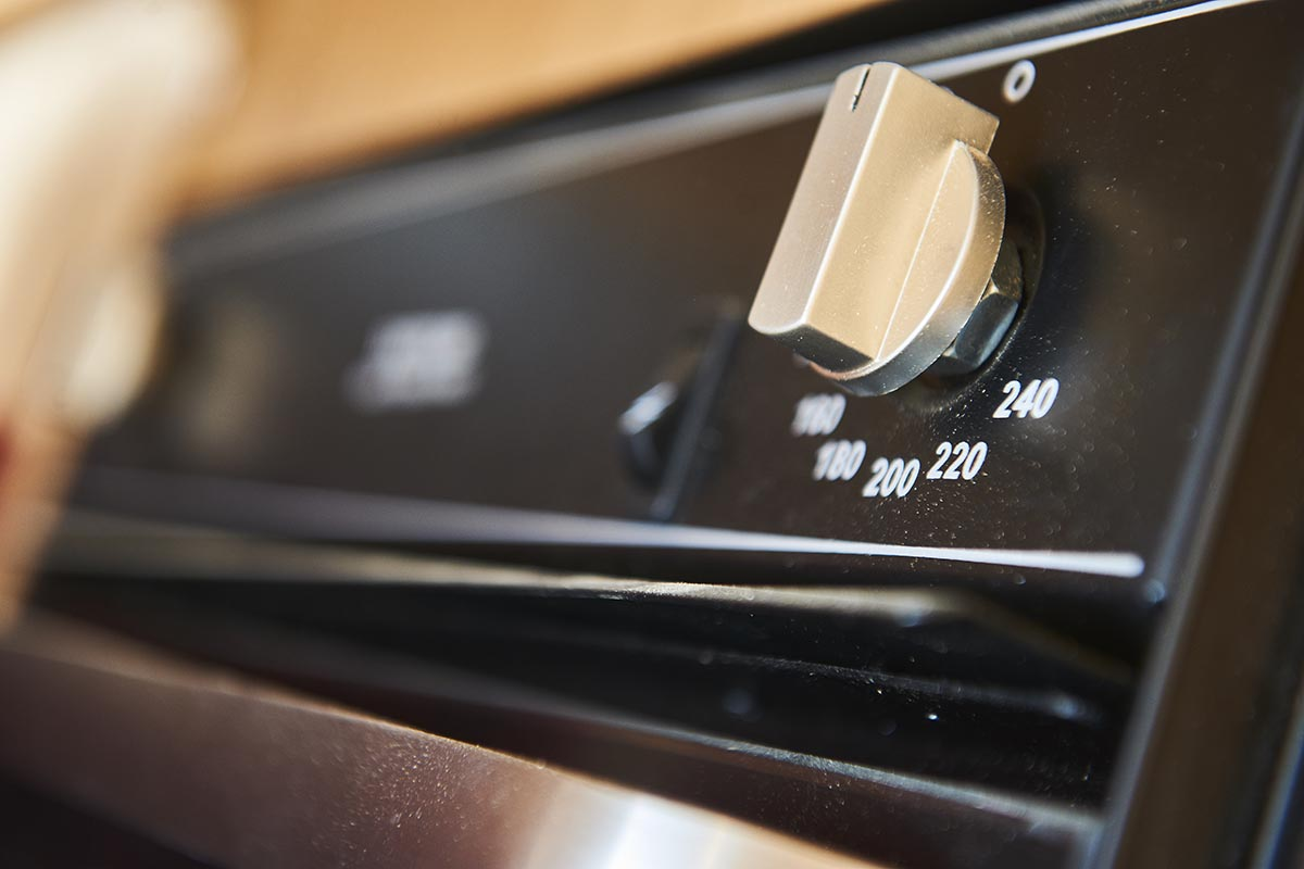An oven control